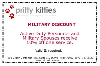 Pritty Kitties Body Sugaring Coupon Irving TX